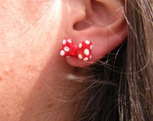 Minnie Mouse Bow Earrings