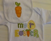 Personalized  Easter Outfit,  Easter ones piece, or Shirt, My 1st Easter shirt  and Easter Bib