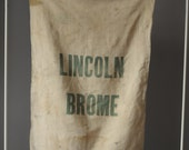 Vintage Feed Sack / Large Lincoln Brome Grass Sack
