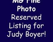 Custom Listing for Judy Boyer