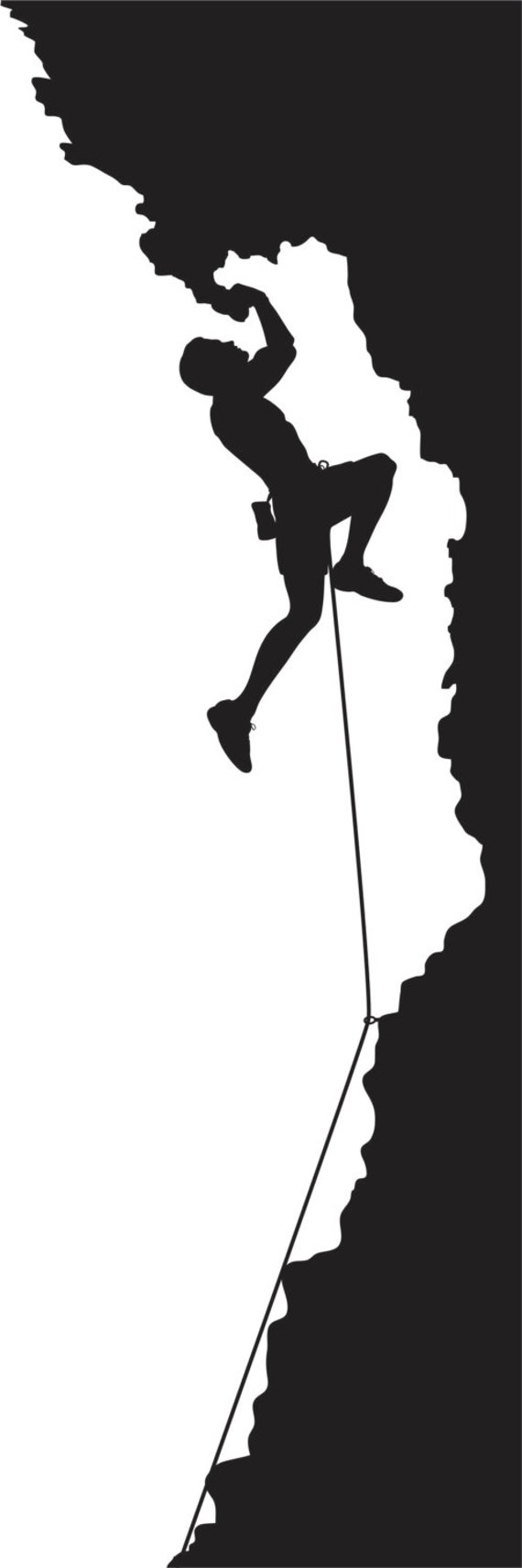 Items Similar To Black And White Die Cut Rock Climbing
