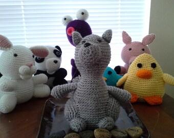 Amigurumi Squirrel Crocheted squirrel.Crocheted Toy. Stuffie. Stuffed Toy. Toy squirrel stuffed squirrel.