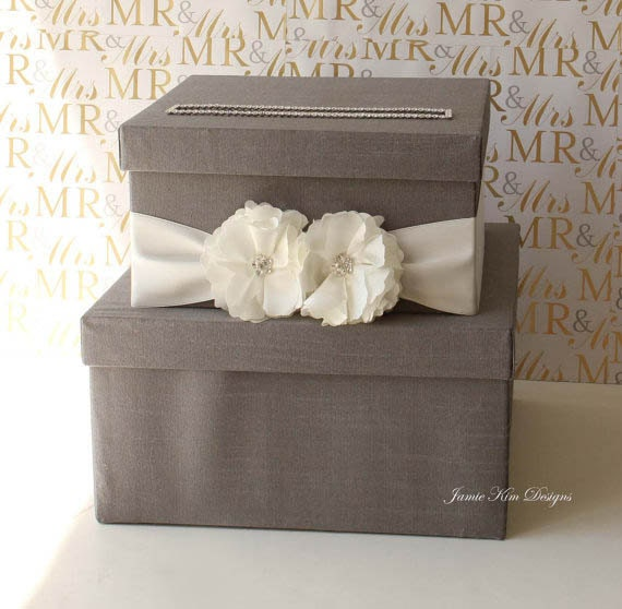 Wedding Card Holder Gift Ideas: Wedding Card Box Money Box Wishing Well Custom By