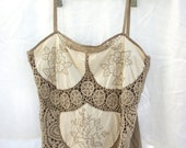 Crocheted Camisole ~ Vintage - Bohemian - Embroidered Festival - Gypsy - Lims - Cotton