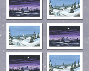 Set of 6 Winter Cards
