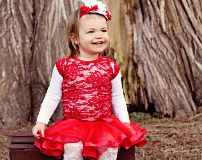 Valentines day Pettiskirt TuTu Lined with Satin Ribbon and made with soft chiffon.