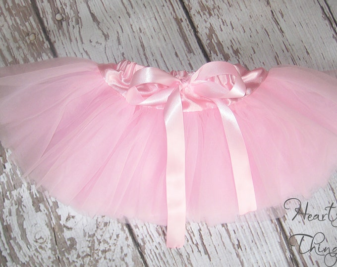 Baby Girl, Skirt for Baby, One year old pictures, one year old outfit, Cakesmash outfit, Birthday tutu, soft tutu, Pettiskirt, Baby pink