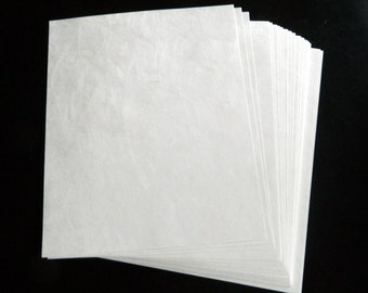 8 1/2 x 11 Tyvek Sheets Water Tear Resistant Material 20/lot