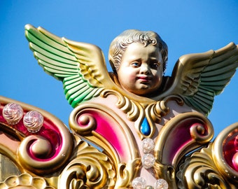 Florence Italy - Baby - Carousel - Fine Art Photograph - Merry Go Round Angel