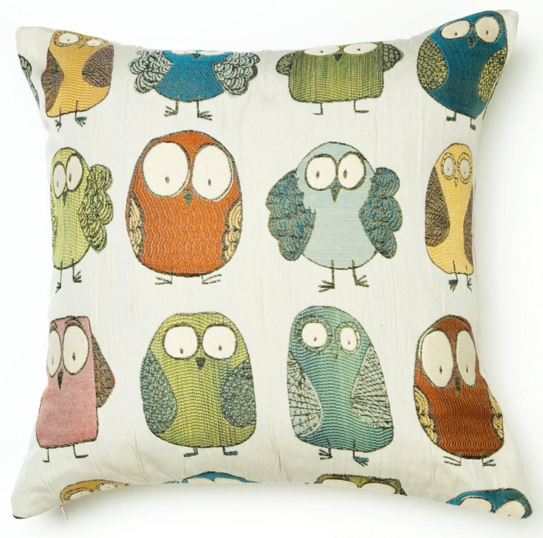 Orange And Blue Decorative Pillows