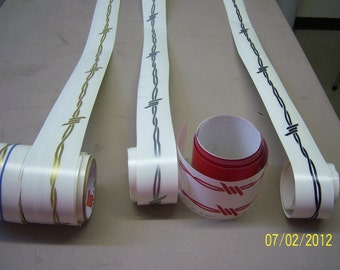 Barbwire Pinstripe Decal 40' long You Pick Your Color.   Die Cut Decal, NOT printed. 1.5 inch tall.