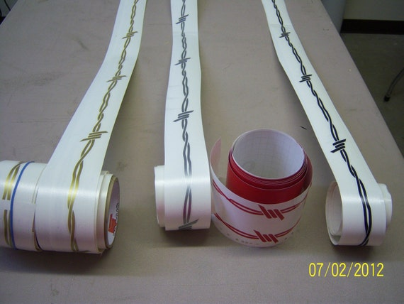 Barbwire Pinstripe Decal  Long You Pick Your Color - Barb wire custom vinyl decals for trucks