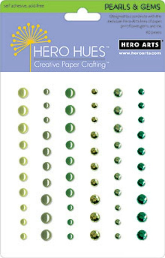 Hero Arts Foliage Pearls & Gems Mixed Accents CH212 Embellishments