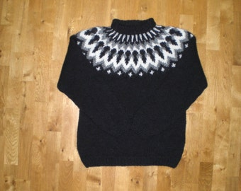 Icelandic sweater/pullover,Traditional Icelandic Lopapeysa,wool sweater,S-M-L-XL-XXL-3XL-4XL-5XL-6XL made to order