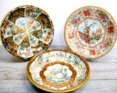 Vintage Romantic Daher Trays Set of Three Instant Collection