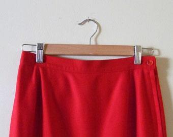 Pendleton Wool Pencil Skirt S M 27 Waist