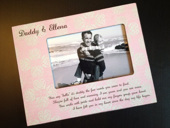 Daddy Daughter Gift Personalized Father's Day Gift New Dad