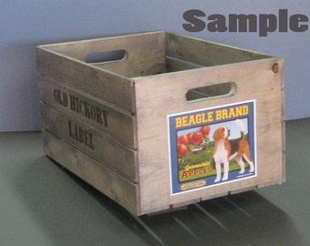 Medium Custom Labeled Wood Crate