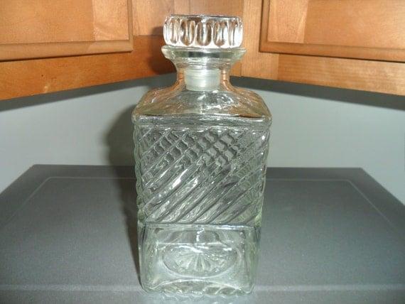 Vintage Old Mr Boston Whiskey Decanter Liquor Bottle