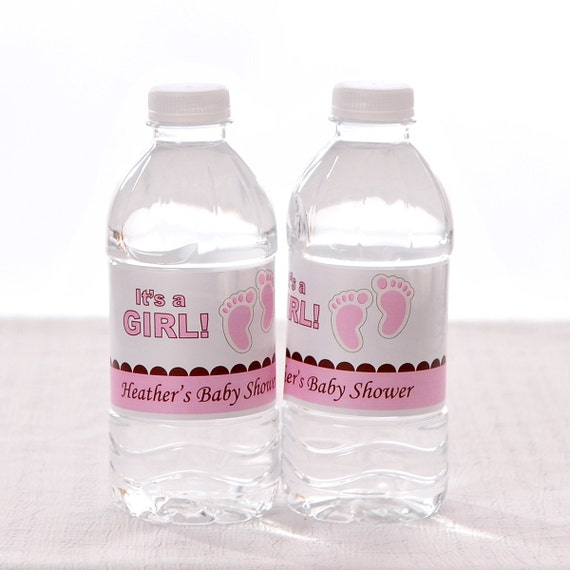 30 Personalized Water Bottle Labels Baby Shower Birthday
