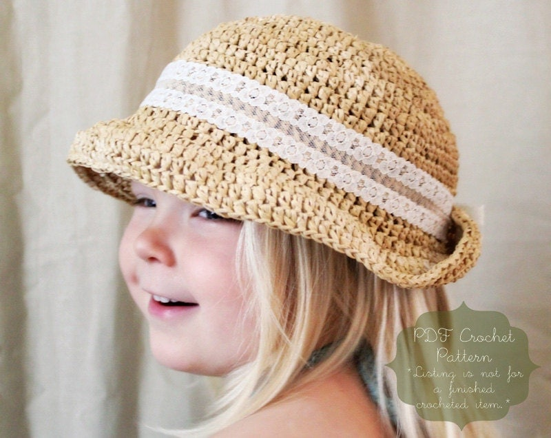 Crochet Pattern Sun Hat : Crochet Pattern: The Maisie Sun Hat-4 by NaturallyNoraCrochet