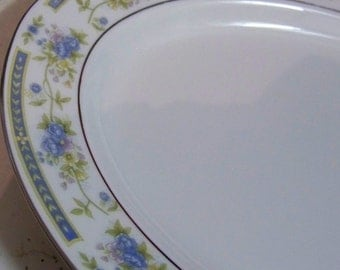 Vintage Barclay China Oval Floral Serving Platter in Sango Pattern