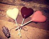 RESERVE FOR TANYA 12 Valentine Heart Chocolate Pops