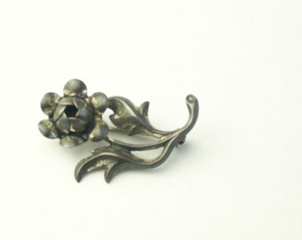 1940's Vintage Brooch Sterling Silver Signed Beau 3D Flower Pin Fine Jewelry Gift For Her on Etsy