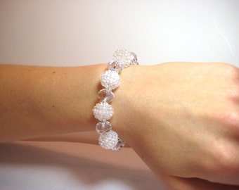 Snowball - Interchangeable Beaded Watch Band
