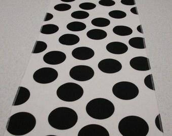 Eco Friendly Big Black Dots Table Runner