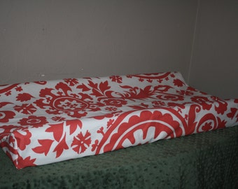 Coral Suzani Contour Changing Pad Cover