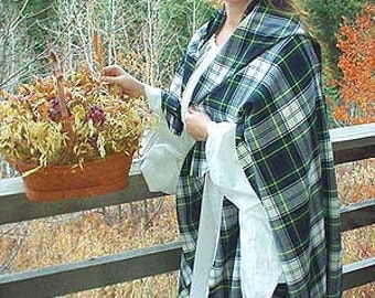 Lady MacKinnon Ancient Scottish Wool Arisaidh (Great Kilt) and Léine. Many Popular Clan Tartans Available.
