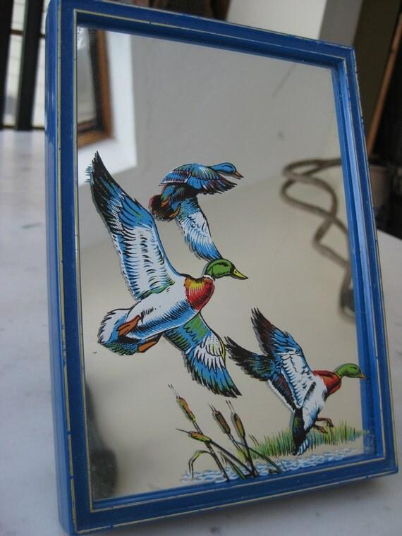 Vintage Yap's Mallard Mirror Music Box KITSCH