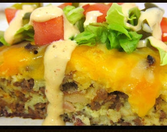 Yummy Cheeseburger Taco Pie~~~Instant Download
