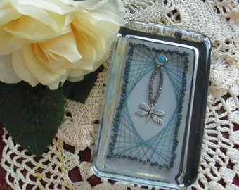 Dragonfly Charm Glass Paperweight