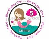 DIY Digital Printable Birthday Mermaid Girl Number Custom Iron on Transfer -- Personalized Design -- Sea - Seashell - Ocean