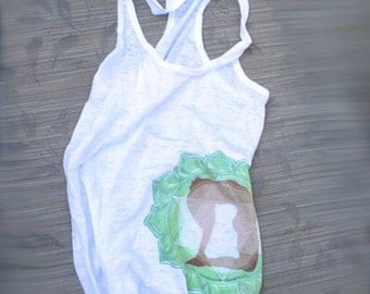 Yoga Pose Tank Top - Green - Heart Chakra - Energy Healing