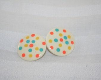 Funky Polka Dot Earrings