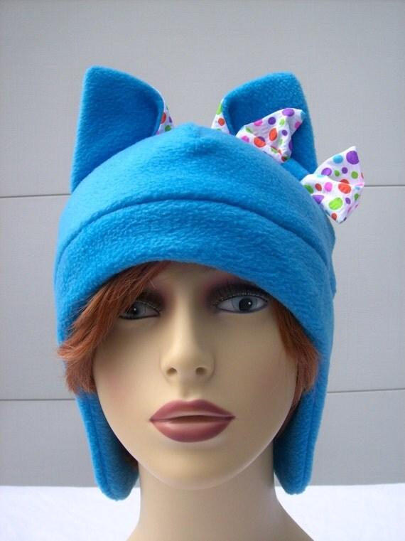 items similar to anime beanie neko hat of cool blue