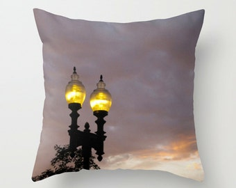 Urban Sofa Pillow, Purple Accent Pillow, Dusk Throw Pillow Cover,- 2 sizes available