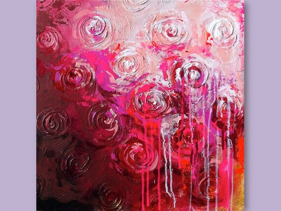 Peaceful Bedrooms Hung With Rosies Paintings : Peaceful Bedrooms Hung With Rosies Paintings : Abstract Painting Pink ...