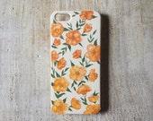 Orange Flowered iPhone 5 Case