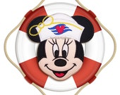 Cruise Minnie Mouse Face No Sew Applique Patch