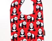 panda Baby bib Minky spring children