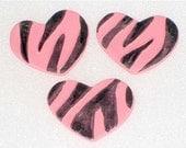Gumpaste Zebra Heart Cupcake Toppers
