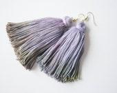 Noise - hand dyed tassel earrings/murMur