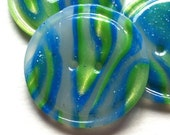 """Transparent Glass Window Buttons (1.25"""" set of two)"""