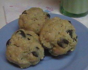 Vegan Chocolate Chip Cookie Dough Balls - No Bake Recipe - PDF INSTANT DOWNLOAD - Great Craving Fix
