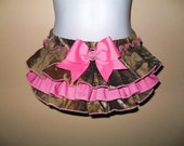 Camo Bling Ruffled Diaper Cover