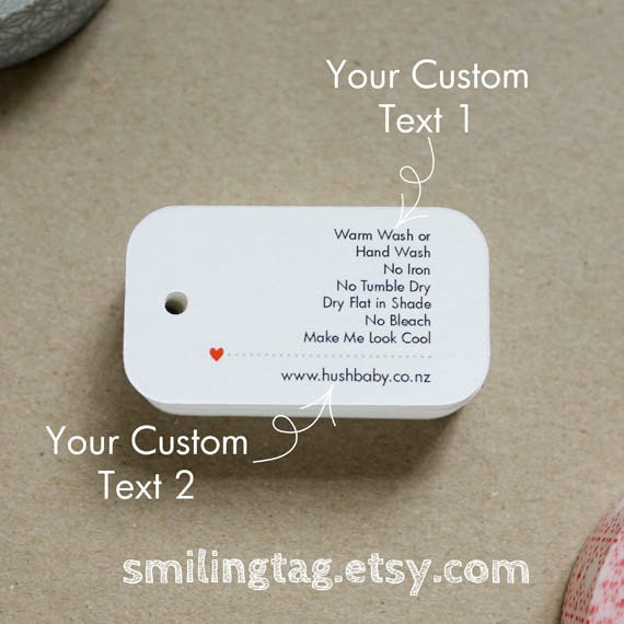 Custom Listing for Esther Care Label Gift Tags